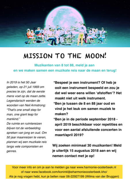 Flyer project Mission to the Moon